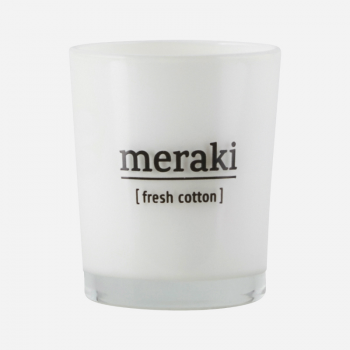 MERAKI SSCENTED CANDLE FRESH COTTON